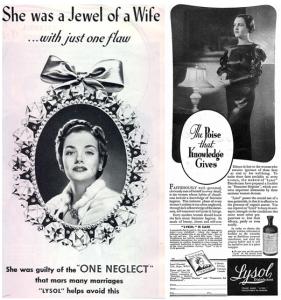 Lysol Douching Advertisement