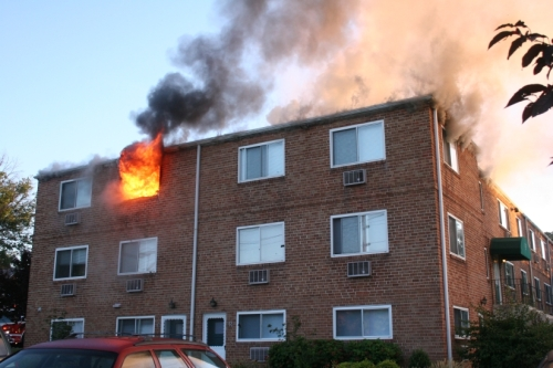 Fire in apartment