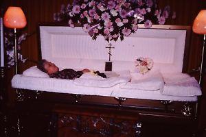corpse in a casket